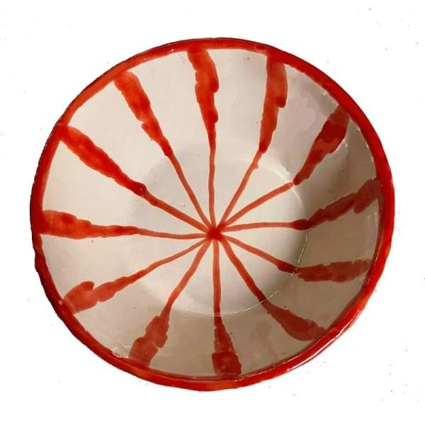 Red Ceramic Bowl