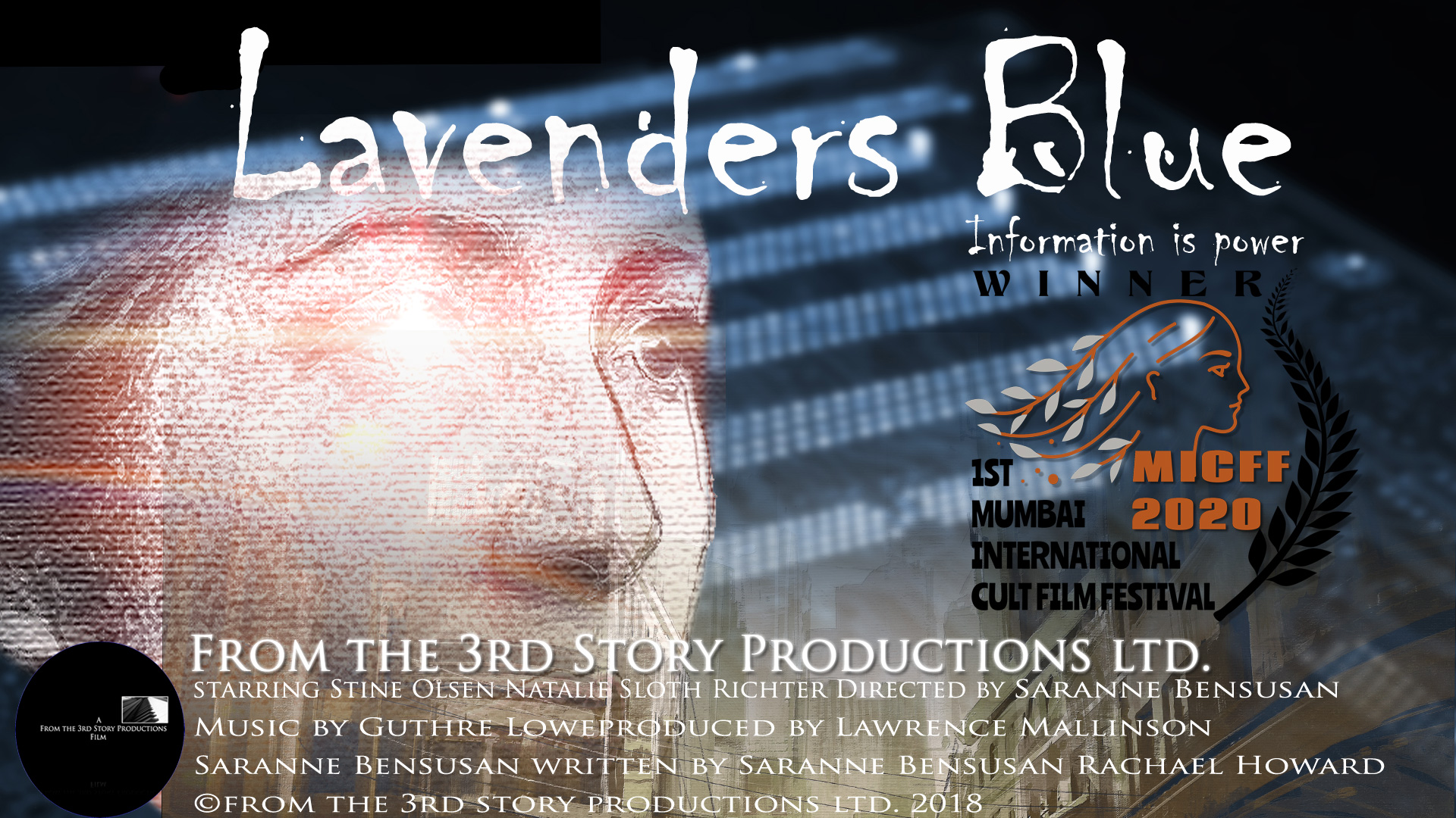 Lavenders MICFF - Welcome to From the 3rd Story Productions Ltd </br> Film Production, Post-Production and Distribution