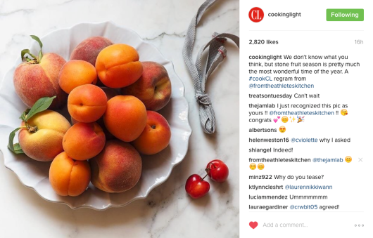 Cooking Light Instagram - Stone Fruit