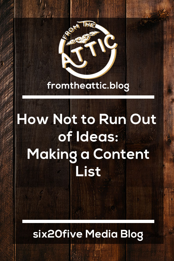 How to Not Run Out of Ideas – Making an Idea List