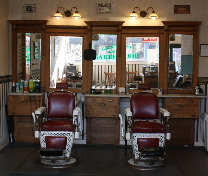 Council Grove Barber Shop  From the Barbers Chair