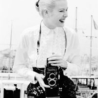 Grace Kelly Posing Harborside at the Cannes film festival in 1955