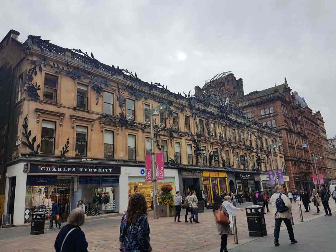 Buchanan Street in Glasgow, #fromthecornertable
