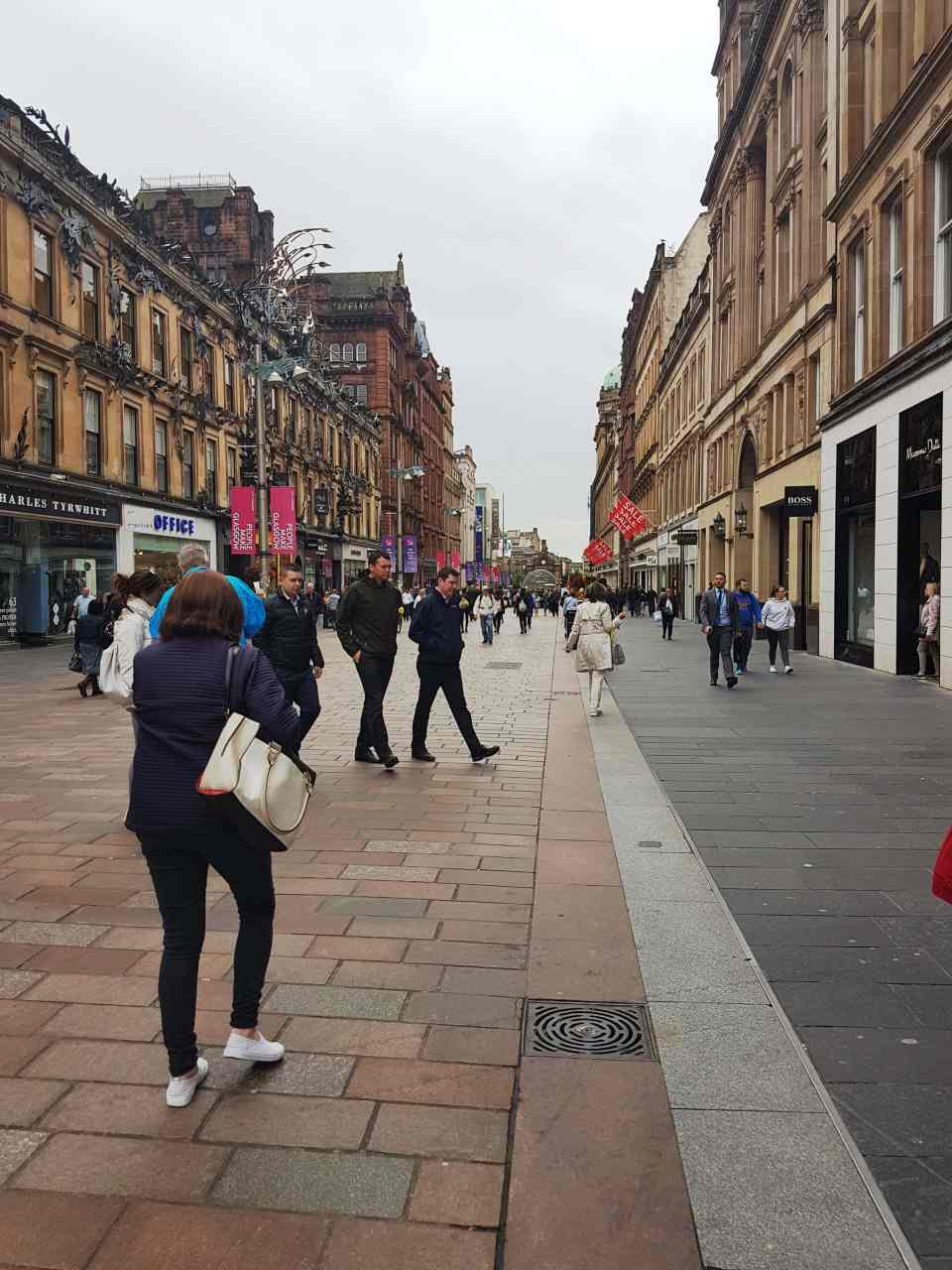 A line of shops at Buchanan Street, Glasgow, #fromthecornertable