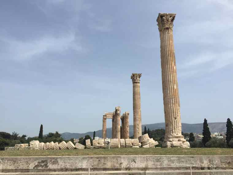 Athens Olympieion, from the corner table, #fromthecornertable