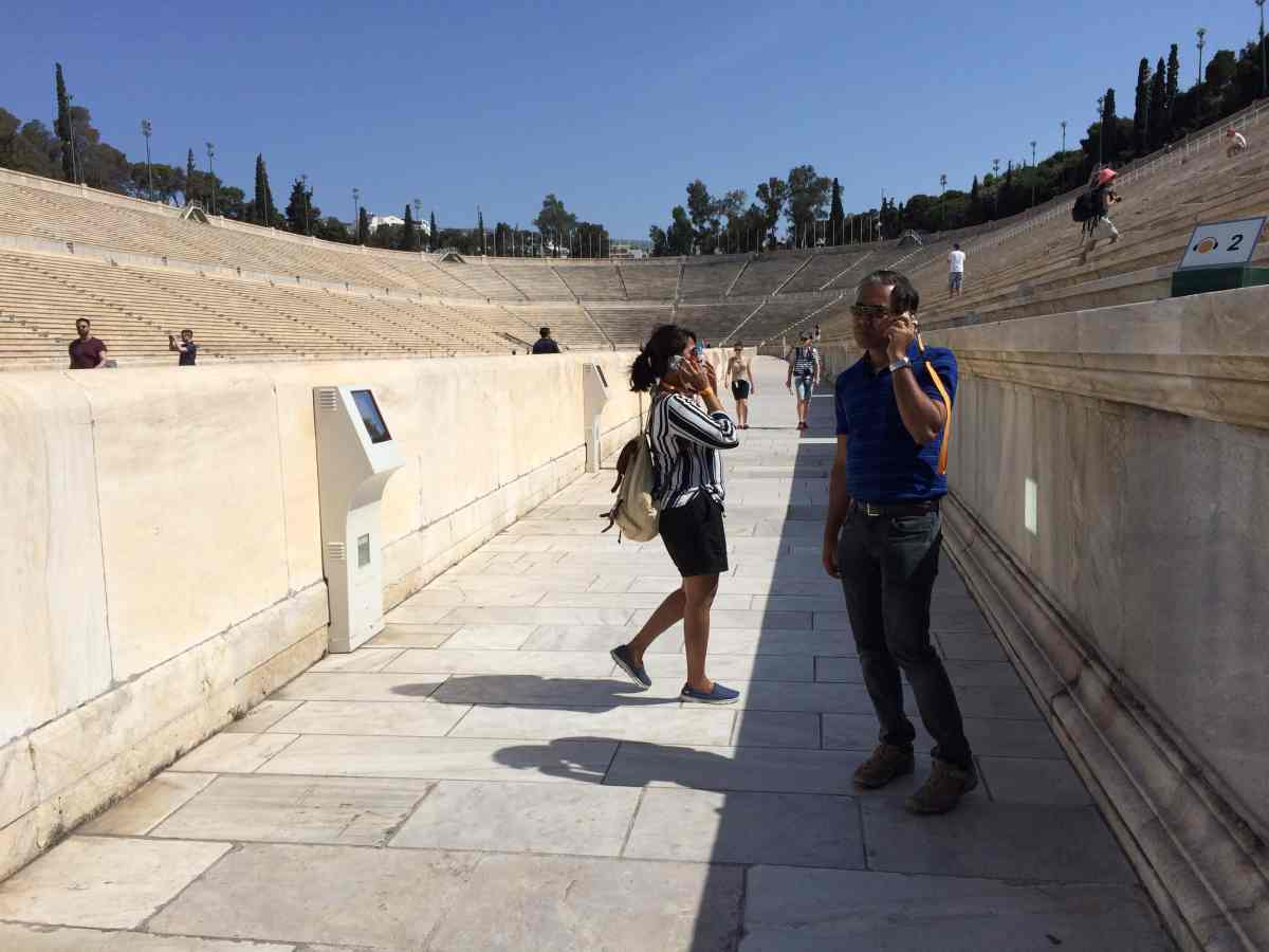 Athens Panathenaic Stadium, from the corner table, #fromthecornertable