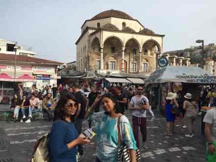 Monastiraki Market, from the corner table, #fromthecornertable