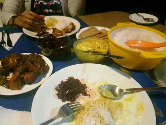 Our dinner spread...