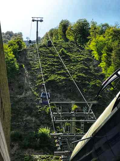Ropeway at Gabala, a beauty spot on the hills, from the corner table, #fromthecornertable