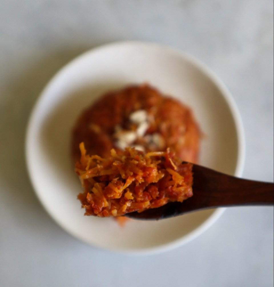 coconut-carrot halve, indian pudding, fromthecornertable, dessert