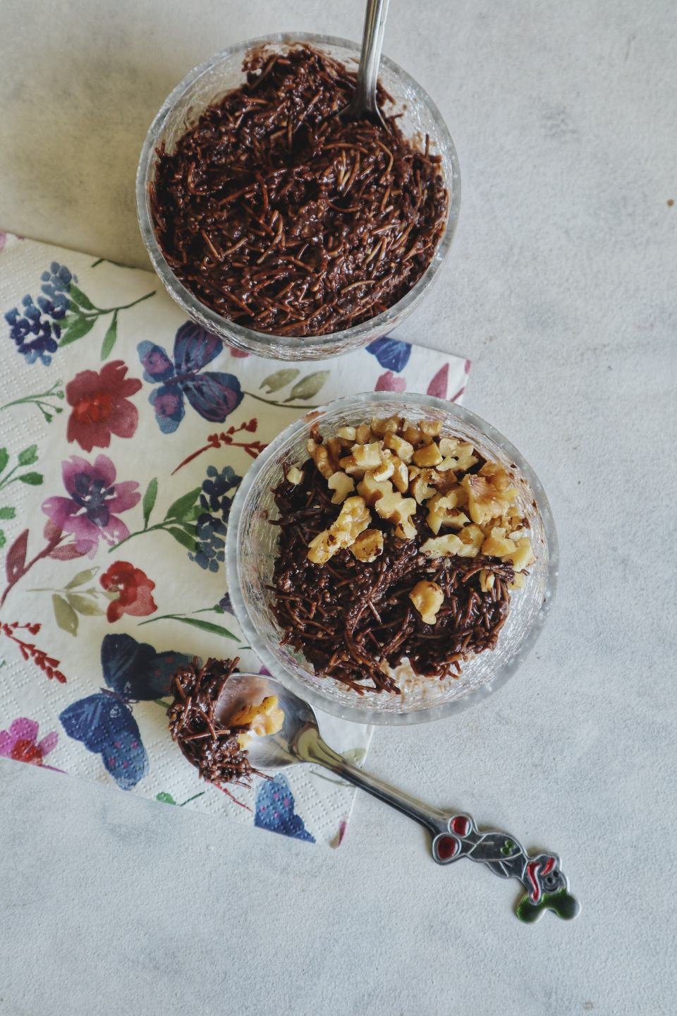 Oats Vermicelli Pudding - recipe on From The Corner Table (copyright image)