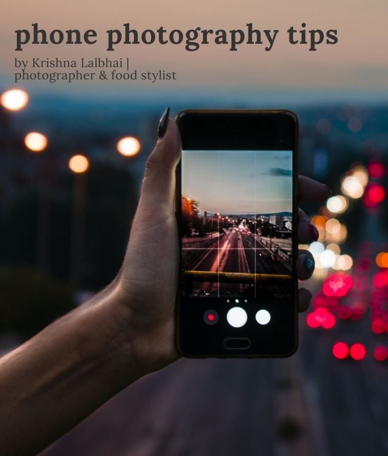 phone photography tips | representational image on From The Corner Table