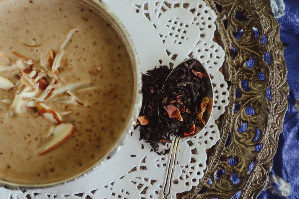 Plum + Rose Tea Paayesh | Recipe on From The Corner Table