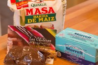 Ingredients for the masa