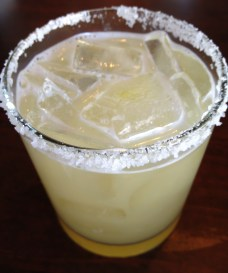 Margarita on the rocks with salt