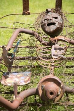 Auto-parts sleeper at the Shidoni Foundry sculpture garden