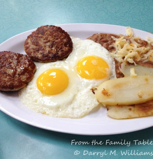 Eggs and sausage at the H&H Car Wash