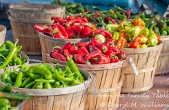 Chiles of many colors at the farmers market