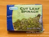 Frozen spinach