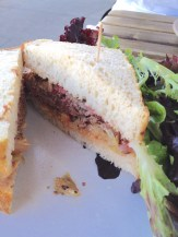 Pastrami sandwich with brined cabbage