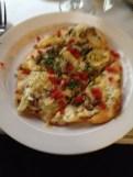 Mushroom and artichoke flatbread