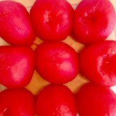 Roma tomatoes, peeled and seeded