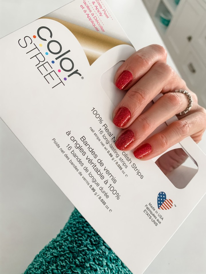 color street nails in red