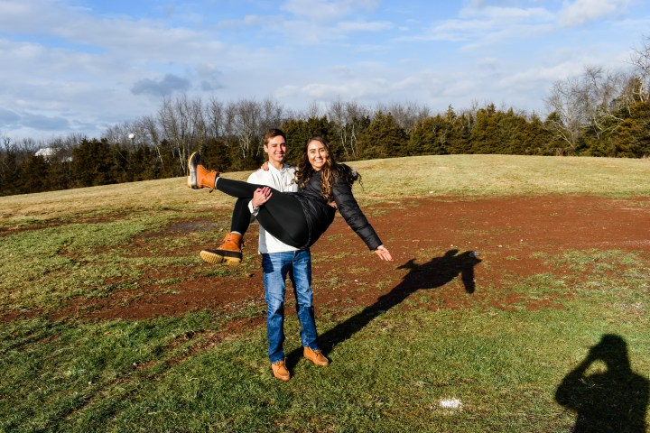 Cheyenne and Kyle on their land