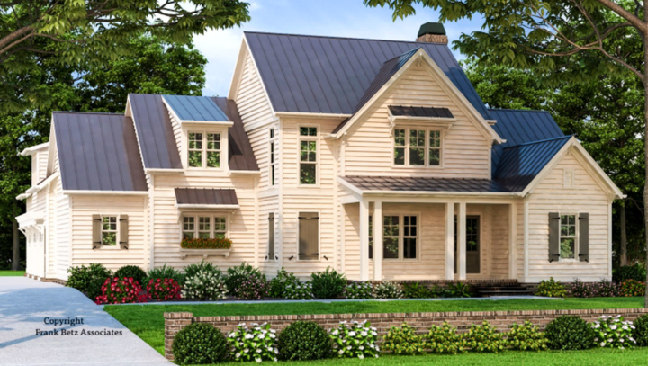 Plan 710193BTZ Modern Farmhouse Plan with Second Floor Teen Suite from Architectural Designs