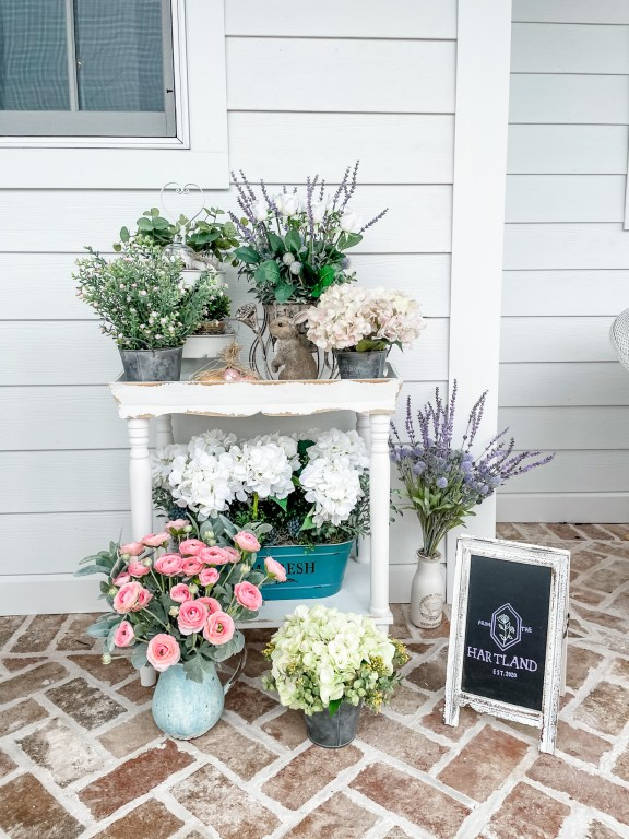 faux flowers outdoor