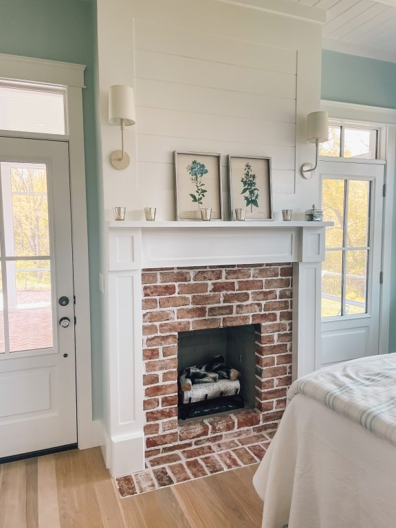 shiplap over the fireplace