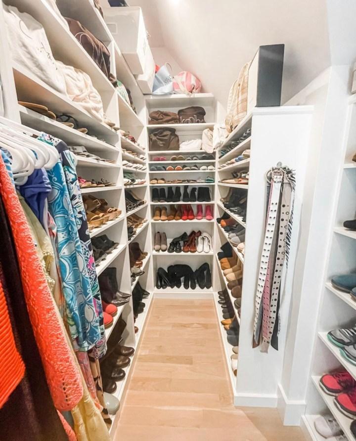dressing room shoe closet
