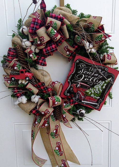 From the Heart Florist Christmas Wreath