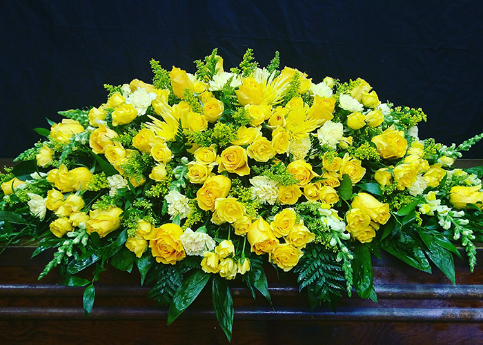 Sympathy and Funeral Arrangements - Casket spray - From the Heart Florist