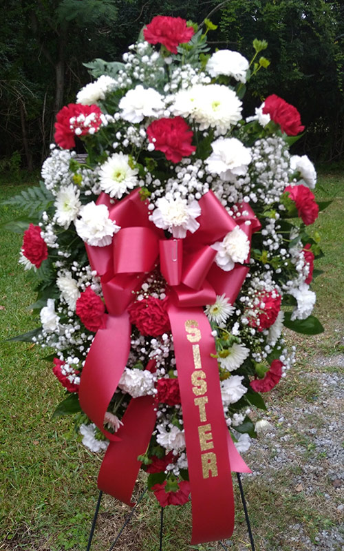 Sympathy and Funeral Arrangements - Fresh Floral Standing Sprays - From the Heart Florist