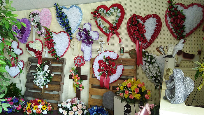 Sympathy and Funeral Arrangements - Silk Sympathy Wreaths and Arrangements - From the Heart Florist