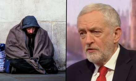Corbyn Announces Labour Will Buy Every Homeless Person In UK A House