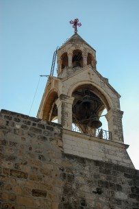The bell tower at the Church of the Nativity.