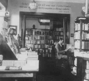 Frank Vogel at the Ultima Bookshop circa 1930