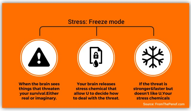 stress freeze mode info-graph red flag behaviour change from the pen of