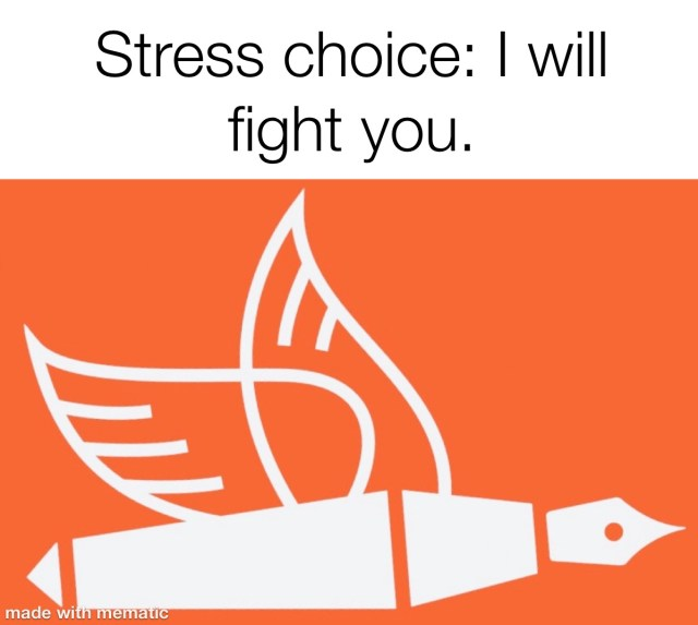 stress choice i will fight you red flag behaviour changes from the pen of