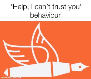 loss of trust in healthcare red flag behaviour change from the pen of