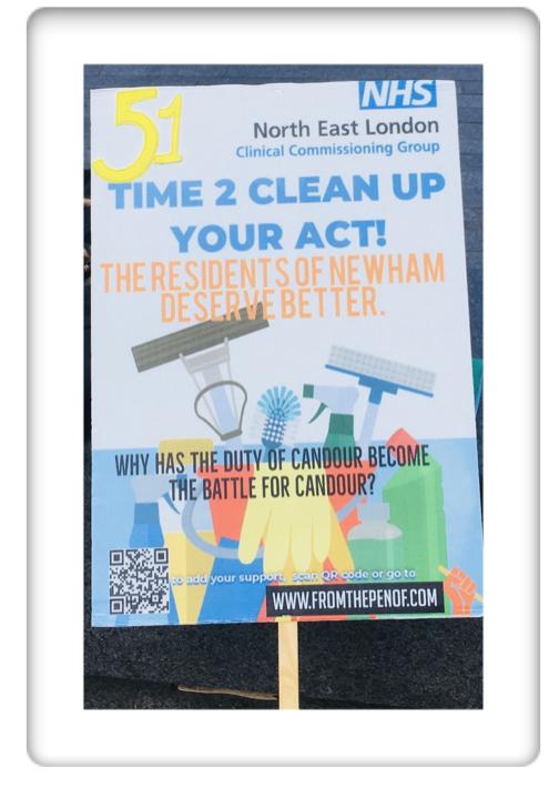 newham deserves better healthcare protest day 51