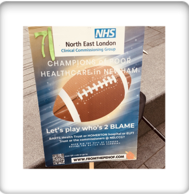newham deserves btter healthcare from nelccg day 70