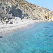 Years ago, my sister, a friend and I went backpacking in Greece.  We started in Athens, went to the Peloponnes and then island hopped and arrived in Folegandros, which at the time was so away from the tourist trail that we couldn't find where to sleep.
