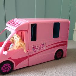 Barbie campervan, Barbie toy, Barbie, VIA From the Poolside blog