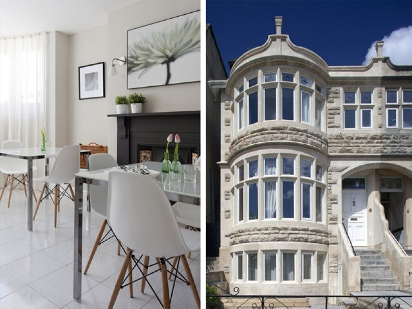2 Crescent Gardens, B&B, Bath VIA From the Poolside blog on boutique hotels and stylish rentals for family holidays