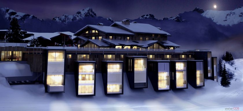 Six Senses Montblanc, new luxury hotel opening in 2015 in the French Alps. 32 suites with great access to a wonderful ski area. Luxury hotel.