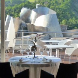 Grand Domine Hotel, Bilbao, Spain. Luxury hotel with designers galore in the furniture and a great view on the museum.