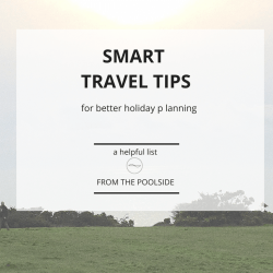 Smart travel tips for early holiday booking and planning.